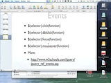 JQuery Events