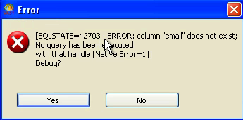 Default Error Handling