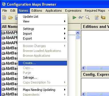 Create a Config Map
