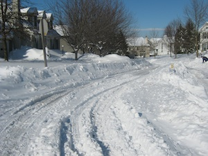 Traffic calming and snow
