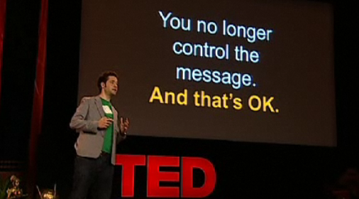 You no longer control the message ...